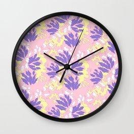 SLEEPING BUNNIES : PINK Wall Clock