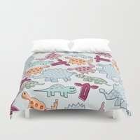 dinosaurs Duvet Covers featuring Dinosaurs  by MadexDesigns