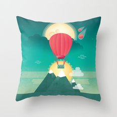 Sun, Moon & Balloon Throw Pillow