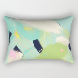 minimal floral abstract art Rectangular Pillow