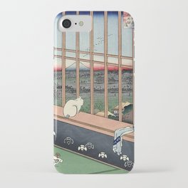 Utagawa Hiroshige Japanese Woodblock Cat iPhone Case
