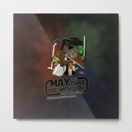 Frod0 the Sheltie: May the Furs Be With You Metal Print