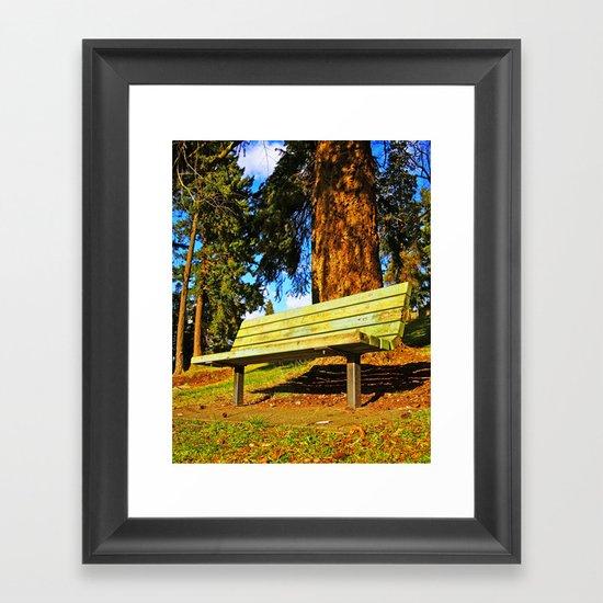 South Park bench Framed Art Print