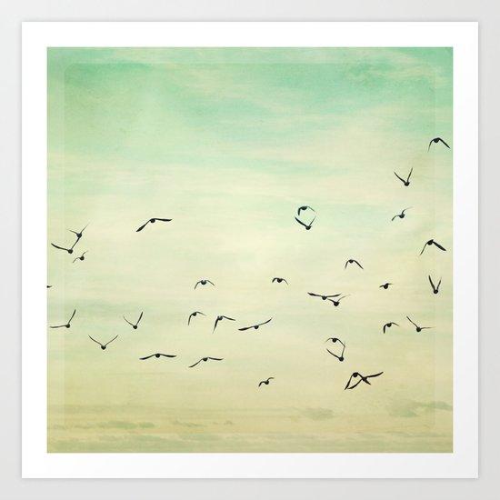 Graceful Flock Art Print
