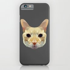 geometric cat head iPhone 6s Slim Case
