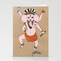 ganesha Stationery Cards featuring Ganesha by Erika Rier