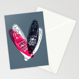 moccasin red and blue Stationery Cards