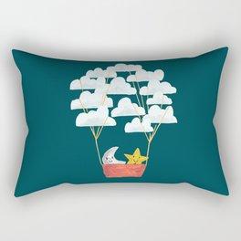 Hot cloud baloon - moon and star Rectangular Pillow