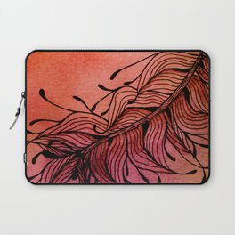 Doodled Autumn Feather 01 Laptop Sleeve