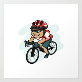 Cycling Fanatics Art Print
