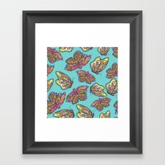 heart and butterflies Framed Art Print