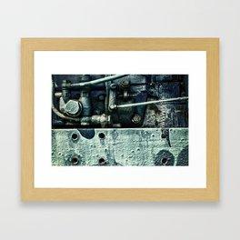Engine Block Inner Workings Framed Art Print