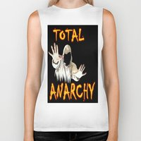 anarchy Biker Tanks featuring ANARCHY  by Robleedesigns