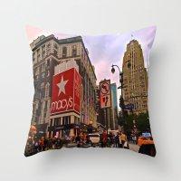 manhattan Throw Pillows featuring Manhattan by Jaime Viens