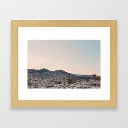 Joshua Tree Landscape Framed Art Print