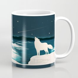 The White Wolf Is Calling Coffee Mug