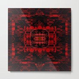 Red and Black Pattern Metal Print
