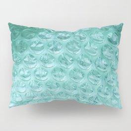 Aqua Bubble Wrap Pillow Sham