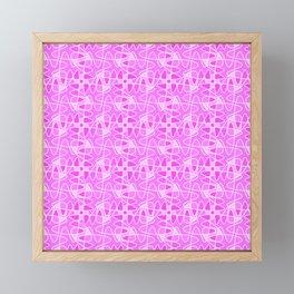 Pretty in Pink Shades Doodle Spirit Organic Framed Mini Art Print