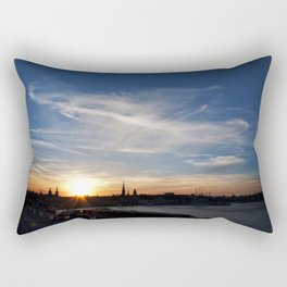 Stockholm sunset Rectangular Pillow