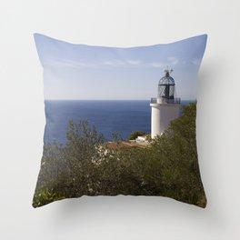Lighthouse of Saint Sebastià, Baix Empordà. Throw Pillow