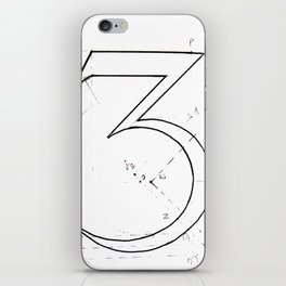 Number 3 iPhone Skin