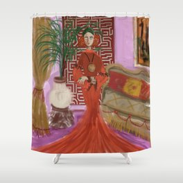 """MARUSHKA, HOME ON TUESDAY EVENING"" Shower Curtain"