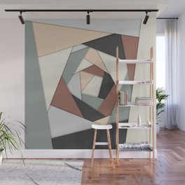 Earth Tones Layers Wall Mural