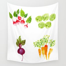 Garden Party - Mixed Veggies Wall Tapestry