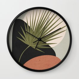 Tropical Leaf- Abstract Art 5 Wall Clock