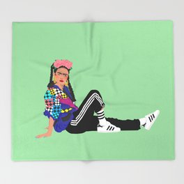 90s Frida Throw Blanket