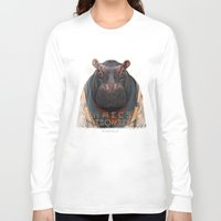 hippo Long Sleeve T-shirts featuring Hippo by iacolarepierre