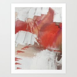 California Sun: a minimal, abstract piece in reds and gold by Alyssa Hamilton Art Art Print