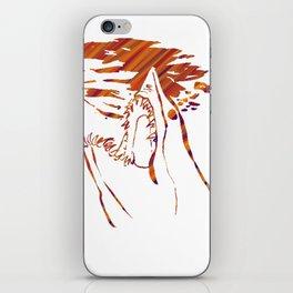 transparent red mako shark iPhone Skin