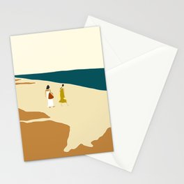 women at tulum Stationery Cards