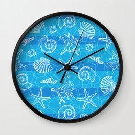 Crystal Blue Sea Wall Clock