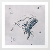 Calm waters Art Print