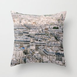 Paris City View from Sacre Coeur Throw Pillow