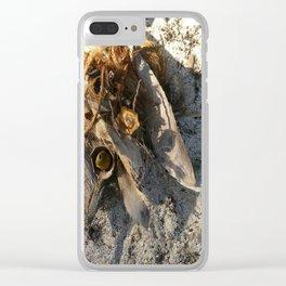 Ambiance Macré 2 . Le lion des sables se réveille doucement Clear iPhone Case