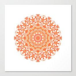 Mandala 12 / 5 eden spirit orange Canvas Print