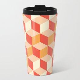 Geometry Sunset Metal Travel Mug