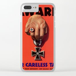 Careless Talk Clear iPhone Case