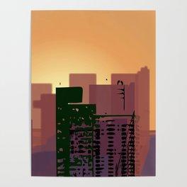 Sunset over San Francisco Poster