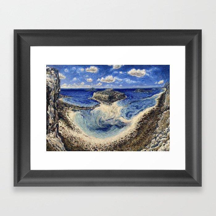 Balos Lagoon Crete Framed Art Print