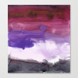 Melting Sunset #3, Joyful Violet Canvas Print