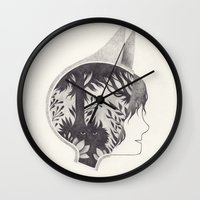 into the wild Wall Clocks featuring wild by yohan sacre