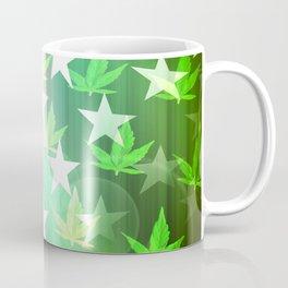 Patriotic Stars and Cannabis Design Coffee Mug