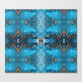 Liquid Turquoise Canvas Print