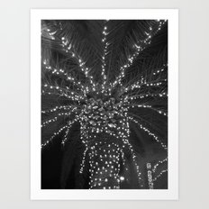 Lighted Palm Tree Art Print