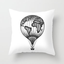 EXPLORE. THE WORLD IS YOURS. (No text) Throw Pillow